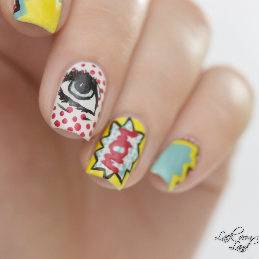 Nailart Dienstag PopArt Nails 1