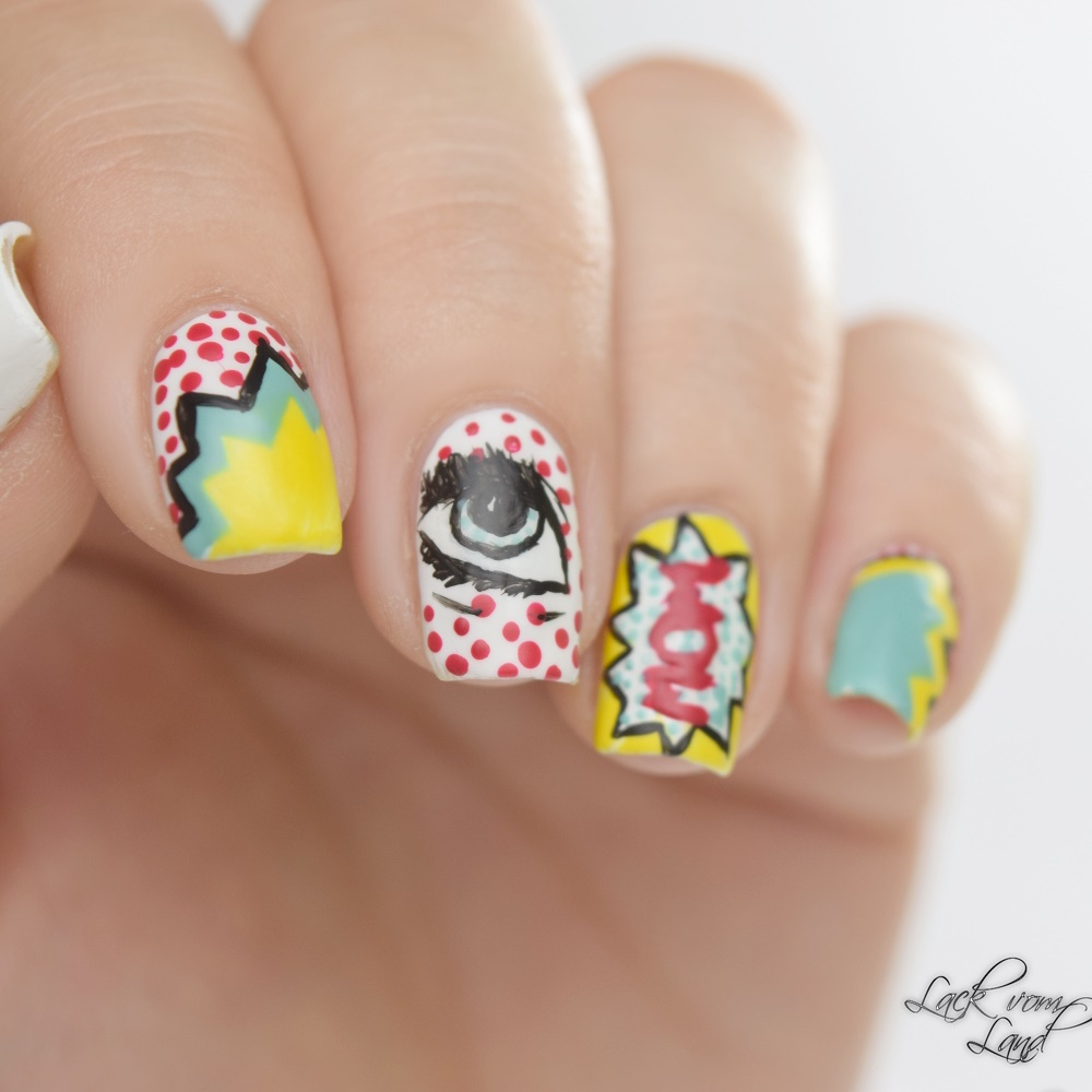 Nailart Dienstag PopArt Nails 2