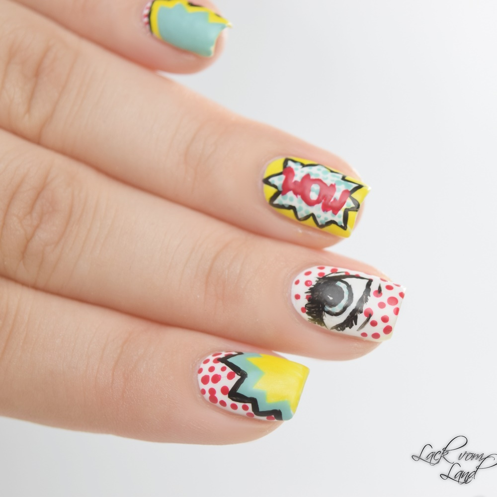 Nailart Dienstag PopArt Nails 3