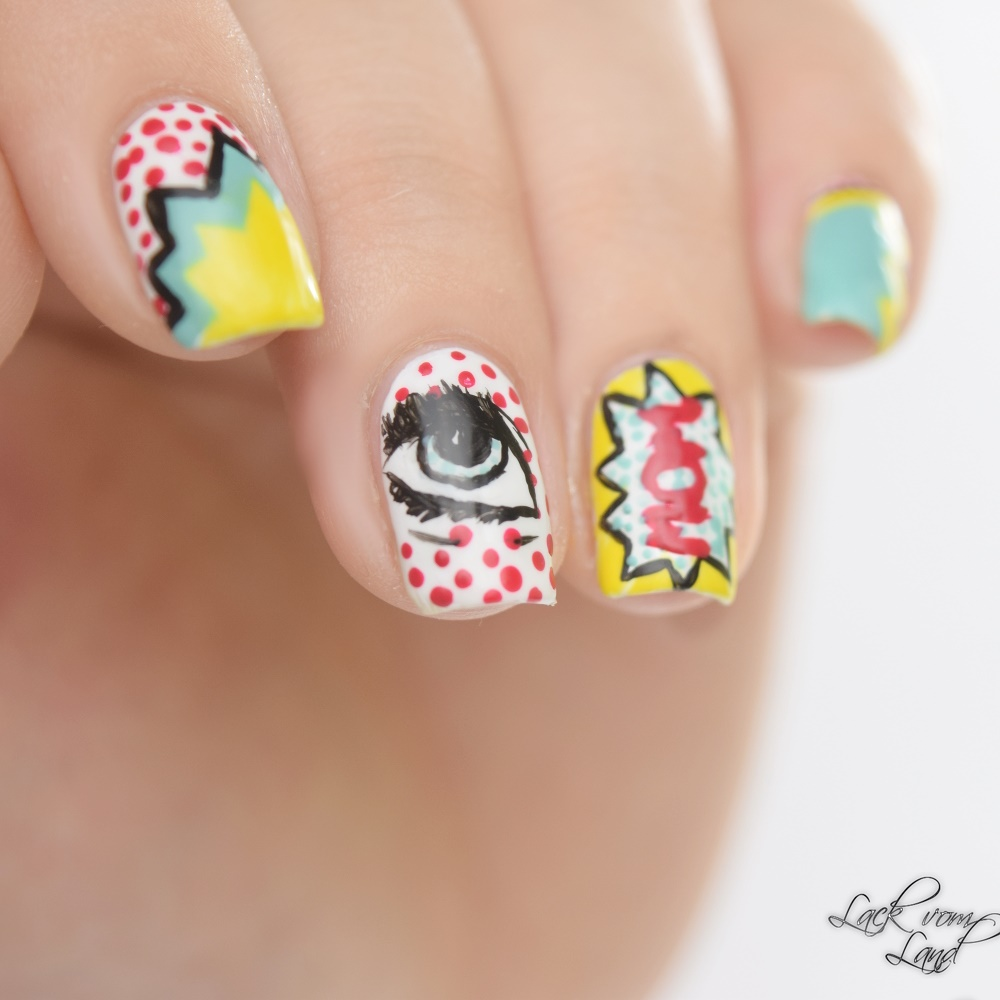 Nailart Dienstag PopArt Nails 4