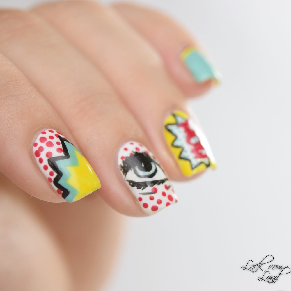 Nailart Dienstag PopArt Nails 5