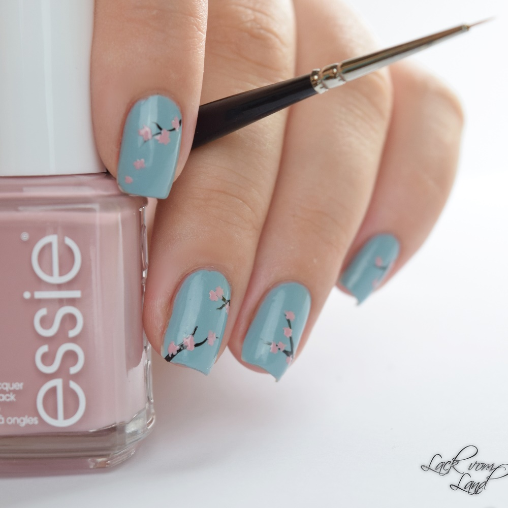 essie fall 2016 cherry blossom nail art 7