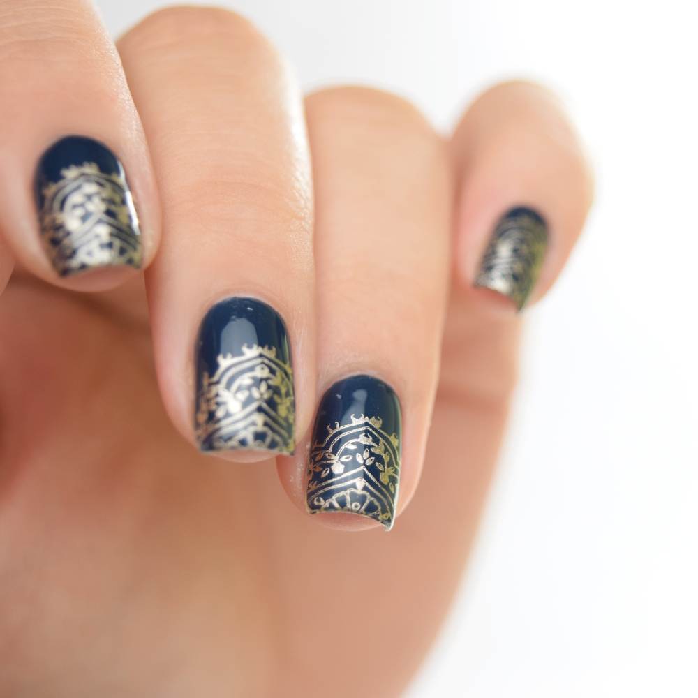essie surrounded by studs Stamping Design 2