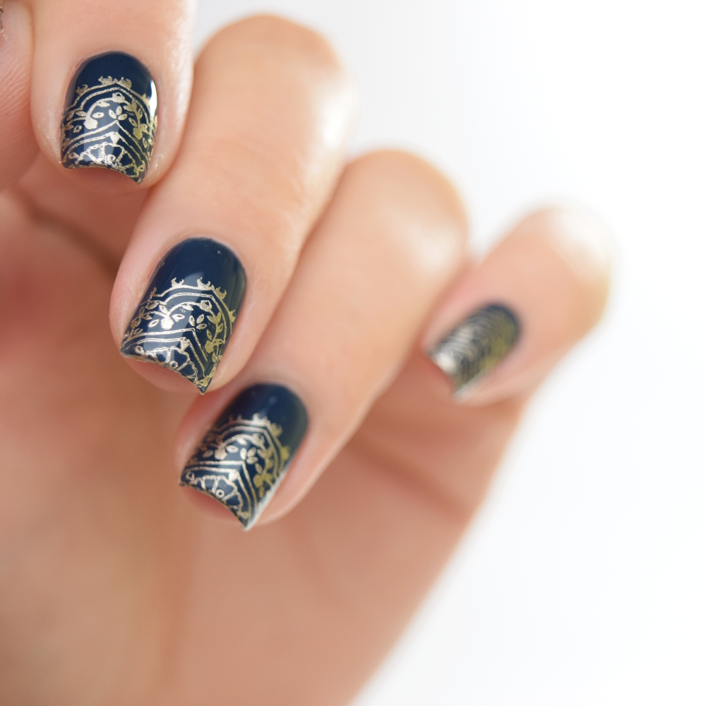 essie surrounded by studs Stamping Design 3