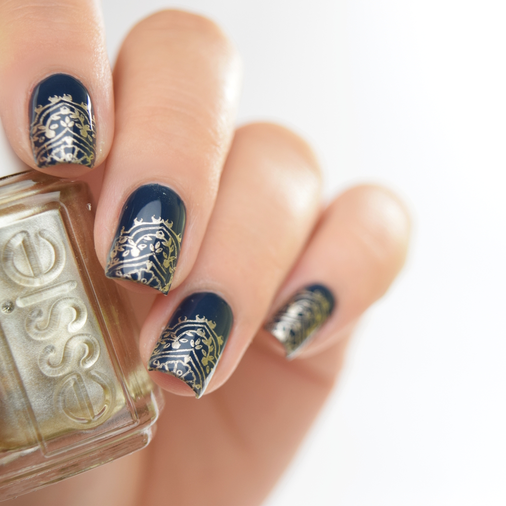 essie surrounded by studs Stamping Design 4